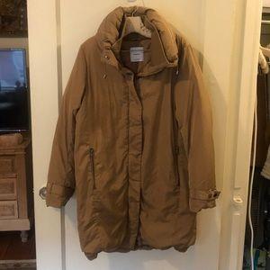 Long winter down coat